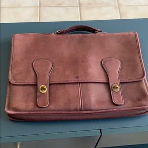 Coach leather briefcase used